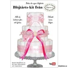Blöjtårtan.se's tårtmix- tillsätt bara blöjor! ROSA