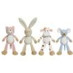 Present till babyn- Diinglisar friends paket med katt, kanin, ko och mus