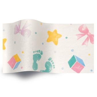 Present till babyn- Babblarna paket - Babblarna paket inslaget i baby silkespapper