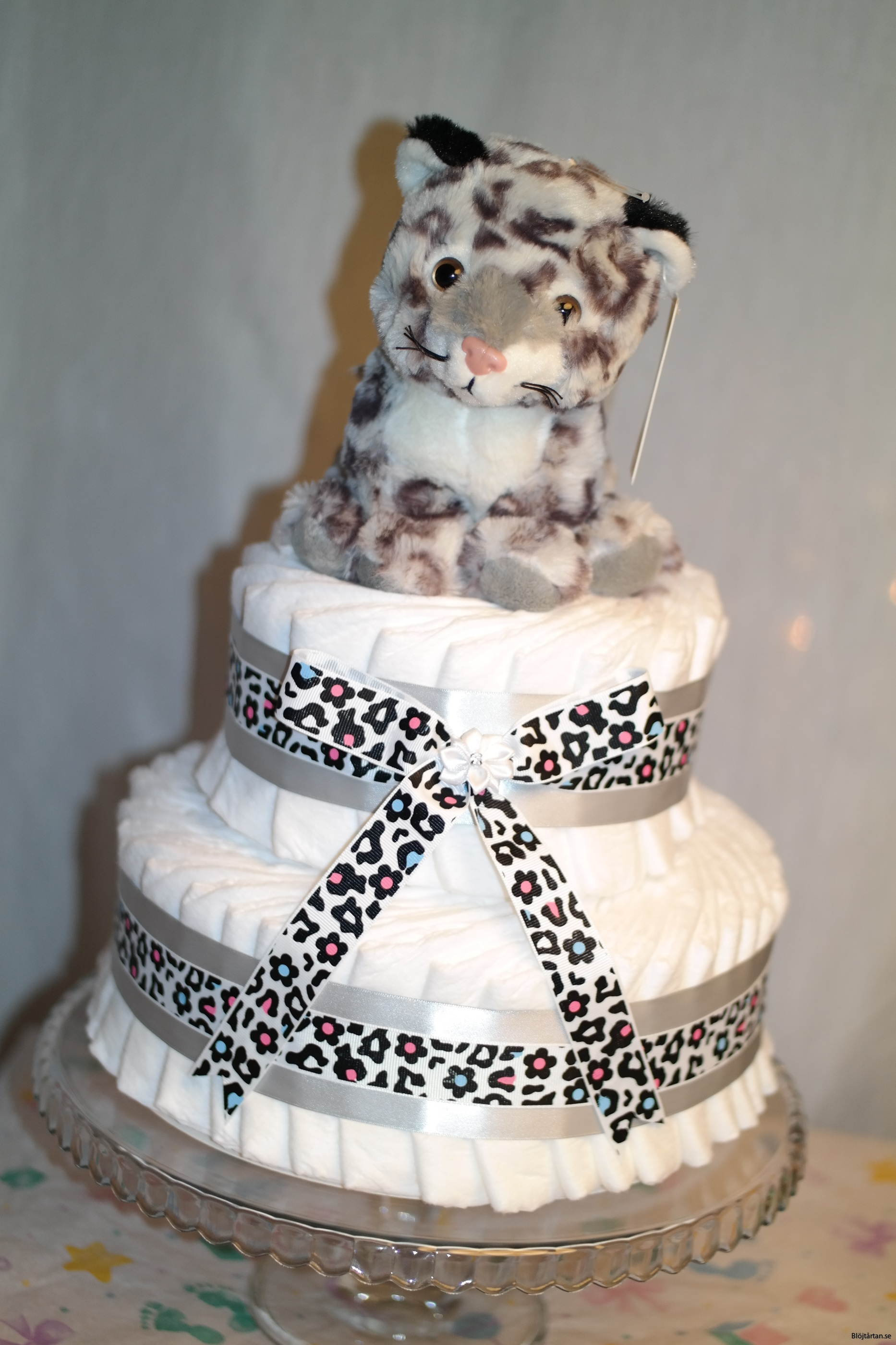 Blöjtårta snöleopard