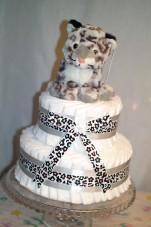 Blöjtårta snöleopard (Omgående leverans)