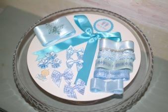 Blöjtårtan.se's tårtmix- tillsätt bara blöjor! ROSA/BLÅ - Blått, gör din egen blöjtårta, blöjtårts-kit
