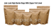 Jute look High Barrier bags with zipper foil lined