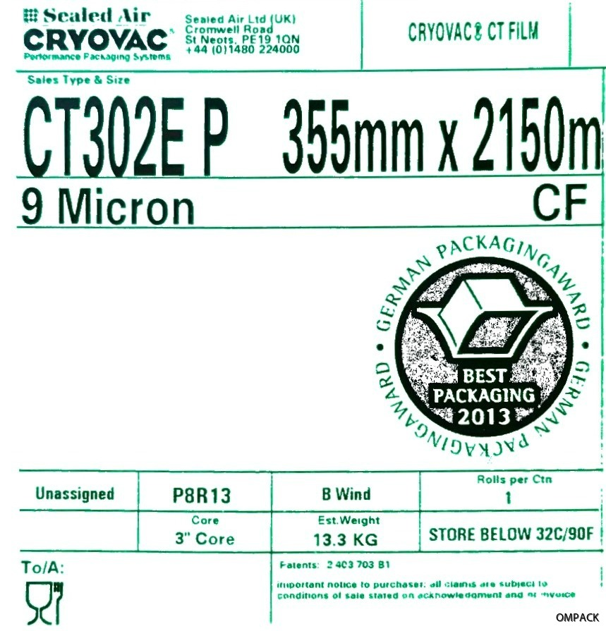 CT302E P 355 mm x 0009 mm x 2150 m