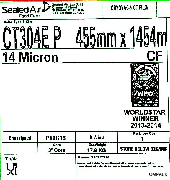 CT304E P 455 mm x 0014 mm x 1454 m