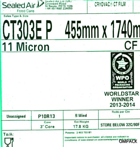CT302E P 455 mm x 0011 mm x 1740 m