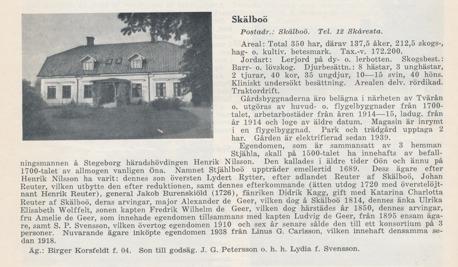 Källa:Svenska Gods och Gårdar