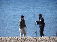 Kollegor från Ölands Guiderna provar på Havsörings fiske