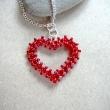 Halsbands smycke, Rött hjärta - Åsa Sandh