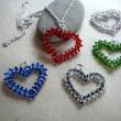 Halsbands smycken, Hjärtan - Åsa Sandh