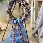 hårkrans till begravning