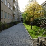 Föreningens innergård bakom Skeppargatan 75-83