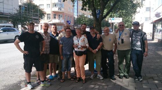 Här är gänget som gått eller jobbat med Veteranmarschen 2014. (P-J Uhlmann saknas på bilden)
