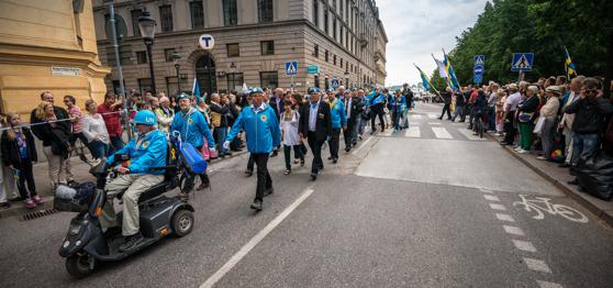 Veteranmanifestation i Stockholm, foto: Kim Svensson