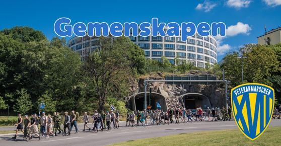 Veteranmarschen 2016 tar sig fram genom Stockholm