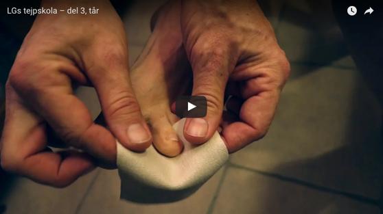 Glöm inte att tejpa dina fötter - Se L-G's tips och trix.