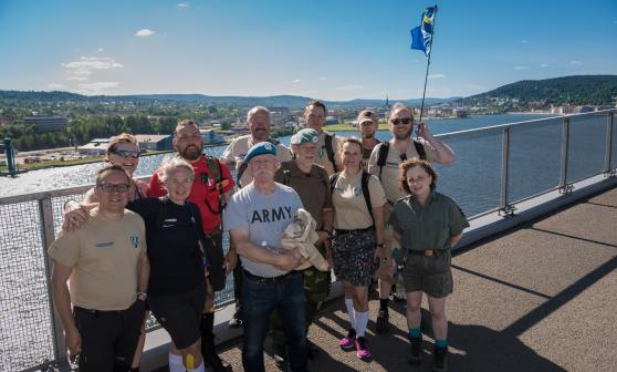 Veteranmarschen 2017 på Sundsvallsbron Foto: Kim Svensson