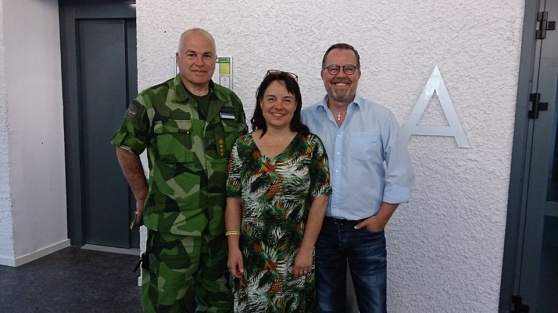 Öv Ulf Siverstedt och Annelie Forshage, Fredsbaskrarna Norr och PG Dolk projektledare SVF