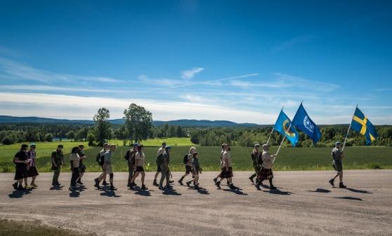 Veteranmarschen anländer Delsbo 2017. Foto: Kim Svensson