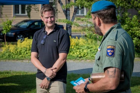 Kommunen i Haparanda tog emot Veteranmarschen. Foto: Kim Svensson