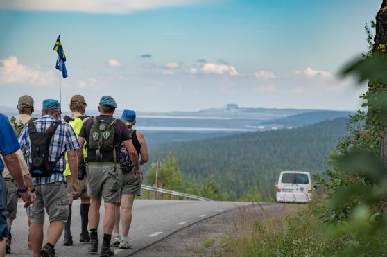 Veteranmarschen är nu inne på de sista dagarna. Foto: Kim Svensson