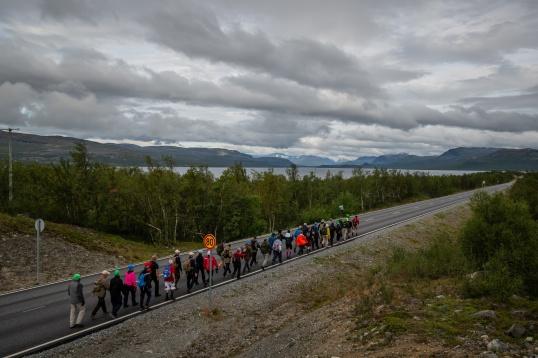 Sista delsträckan 2018, vi har inte långt kvar till Treriksröset foto: Kim Svensson