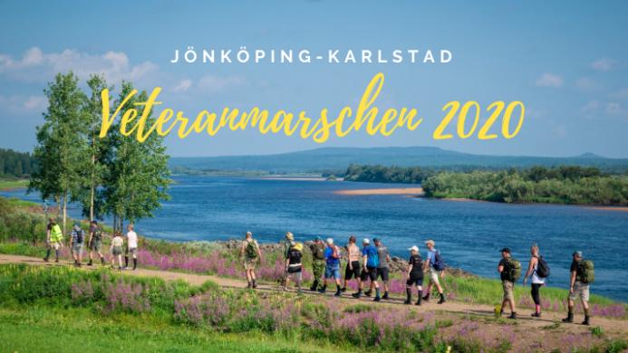 Här går Veteranmarschen 2019 i mål i Tingstäde id Gotlands Försvarsmuseum. Foto Sören Mård
