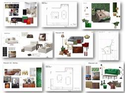 Exempel Moodboards, inspirationskollage, Hitta Hem, Hanna Bertils Forsgård, inredare, inredningsdesigner, homestylist