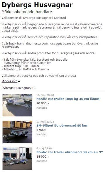 Dybergs Husvagnar på Blocket