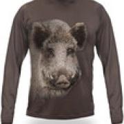 Wild Boar 3D T-Shirt Long Sleeve