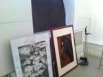 De stora tavlorna, den ena på min klass och den andra är hästporträttet.