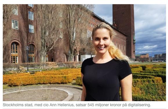 Bildkälla: Computer Sweden, Ann Hellenius, CIO Stockholm Stad