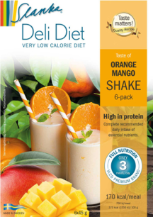 Slanka milkshake: Apelsin Mango - Apelsin Mango 6-pack