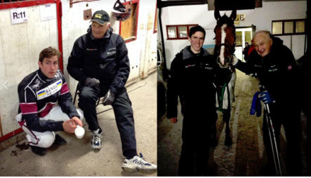 Jörgen och K-G Holgersson. Vila i frid Holger!
