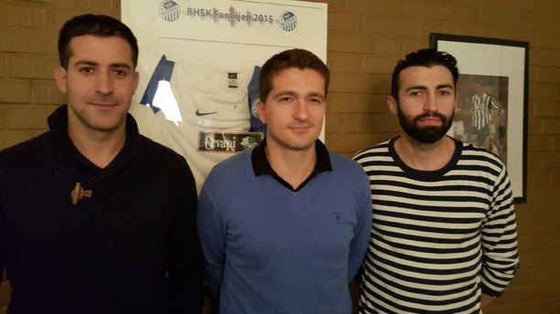 Från höger: Ernes Haracic, Nerim Sumun och Edin Zverotic.