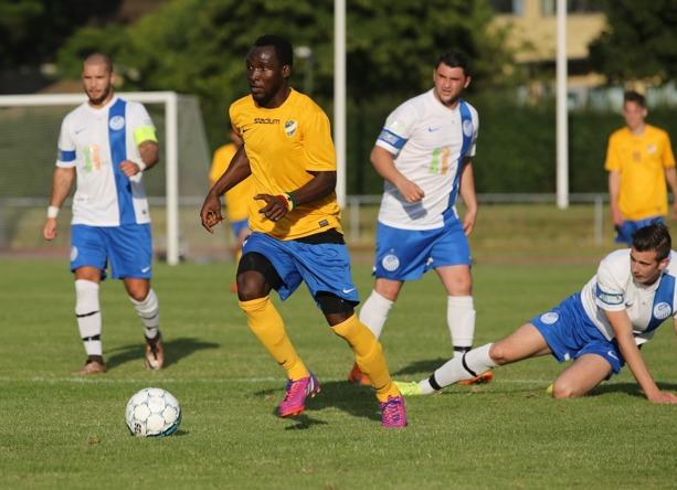 Charles Agyekum i IFK Klagshamn. Foto: Senad Honic HONA
