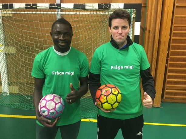 Våra ledare: Felix Adekeye och Robin Andersson