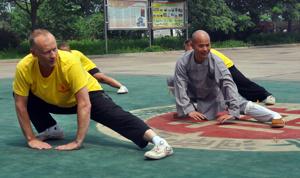 Peder Finnsiö med Shi De Yang i Kina 2013