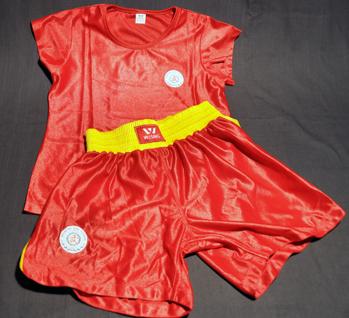 Sanshou-set dam - Storlek M röd