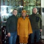 Gunnar och Peder med Qigongmaster Zhao i Shaolin