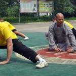 Peder tränar med Shi De Yang 2013