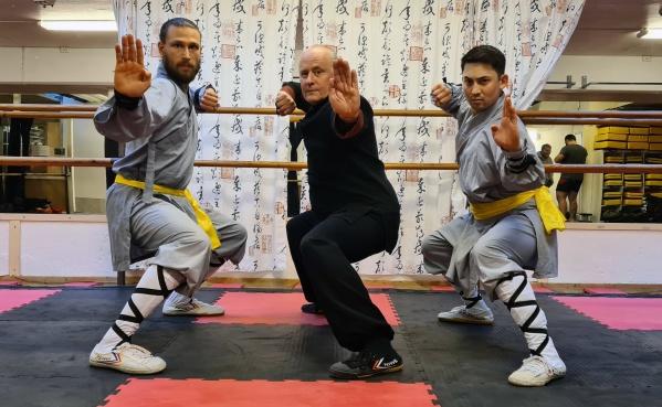 Widar, Peder och Tomio - instruktörer Shaolin