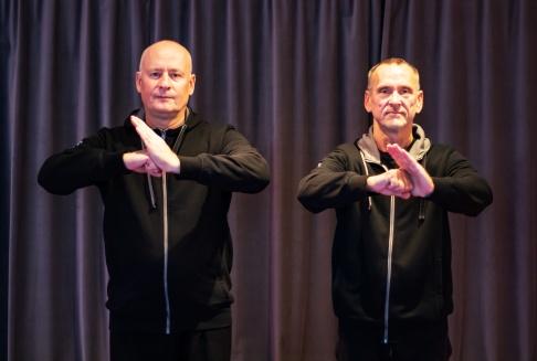 Peder Finnsiö och Gunnar Malm, klubbledare huvudinstruktörer