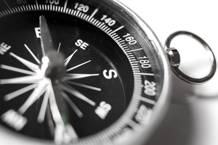 En kompass.