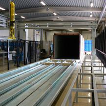 Containerlastare som vi tillverkat i vår legotillverkning.