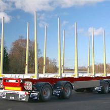 Lastbilssläp som vi tillverkat i vår legotillverkning.