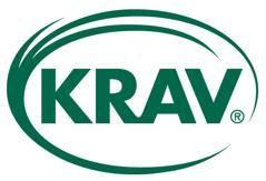 Denna logga visar att produkten är ekologisk och framtagen både enligt EU-regler och KRAVs regler.