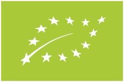 Denna bild visar att produkten är ekologiskt odlad och godkänd av EU