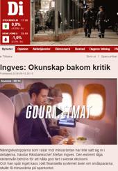 Herr Ingves försvarar den negativa räntan (screenshot: di.se)