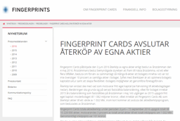 Fingerprint avslutar återköpen i förtid.